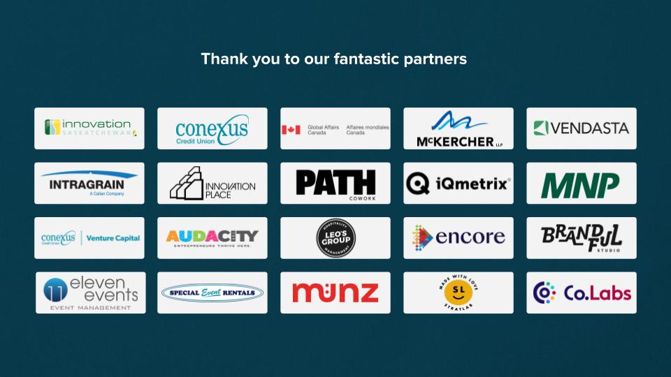 Sask Startup Summit Partner Logos